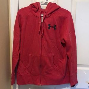 Under Armour Charged Cotton Storm zip up hoodie